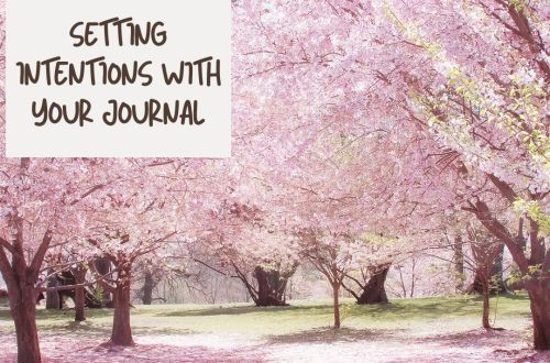 set intentions journaling