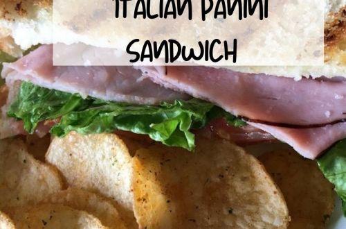 Warm Italian Panini Sandwich