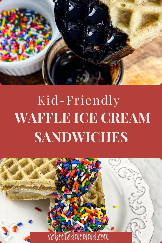 Kid-Friendly Waffle Ice Cream Sandwiches