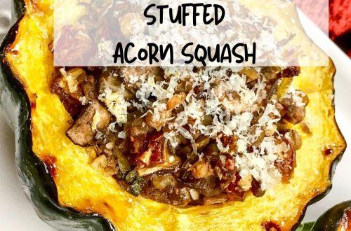 portobell an sage-stuffed acorn squash