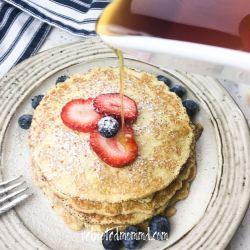 Cream Cheese Pancakes with Fresh Berries