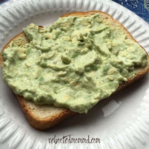 blt with creamy avocado spread