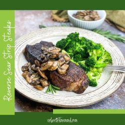 reverse sear strip steak