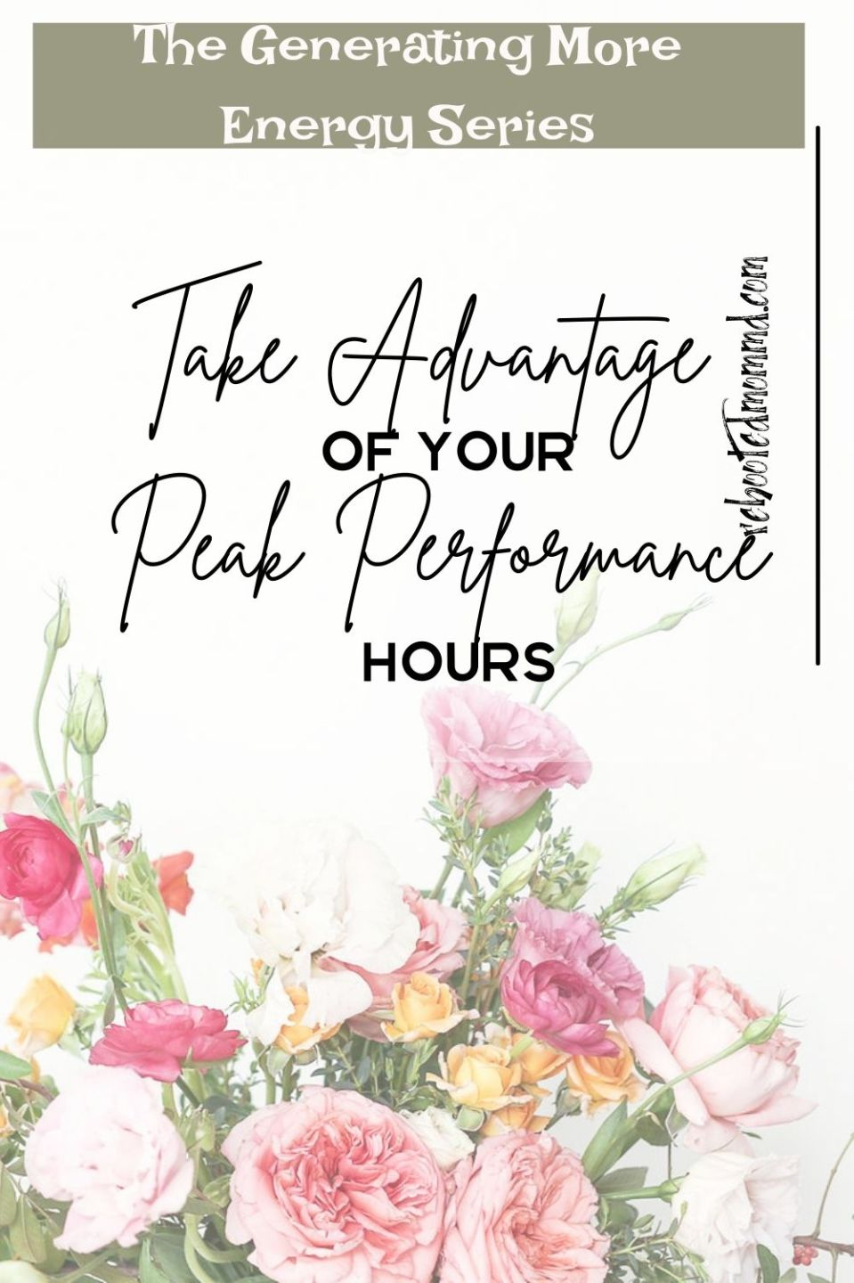 Take Advantage of your Peak Performance Hours