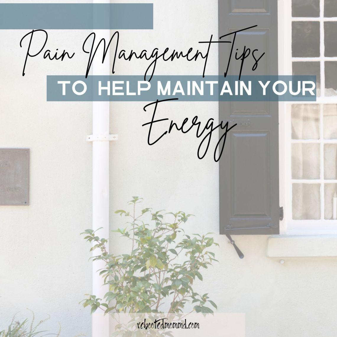 pain management energy