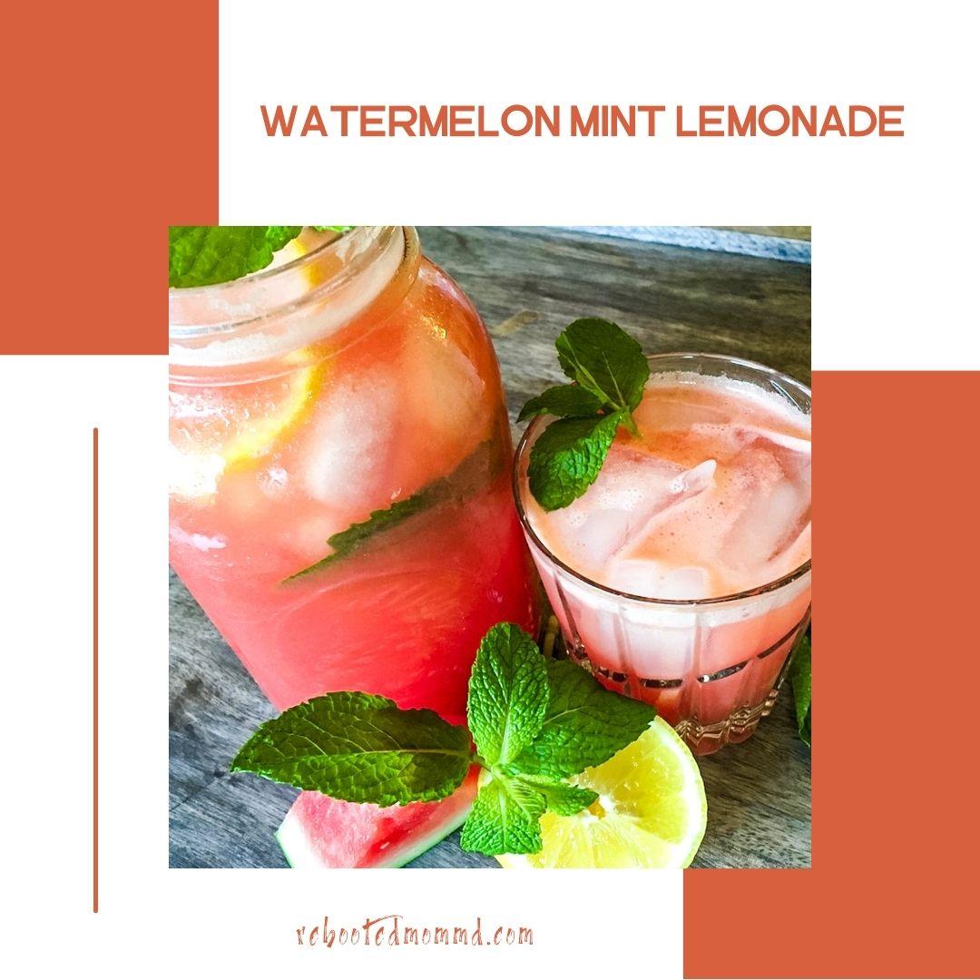 watermelon mint lemonade summer drink