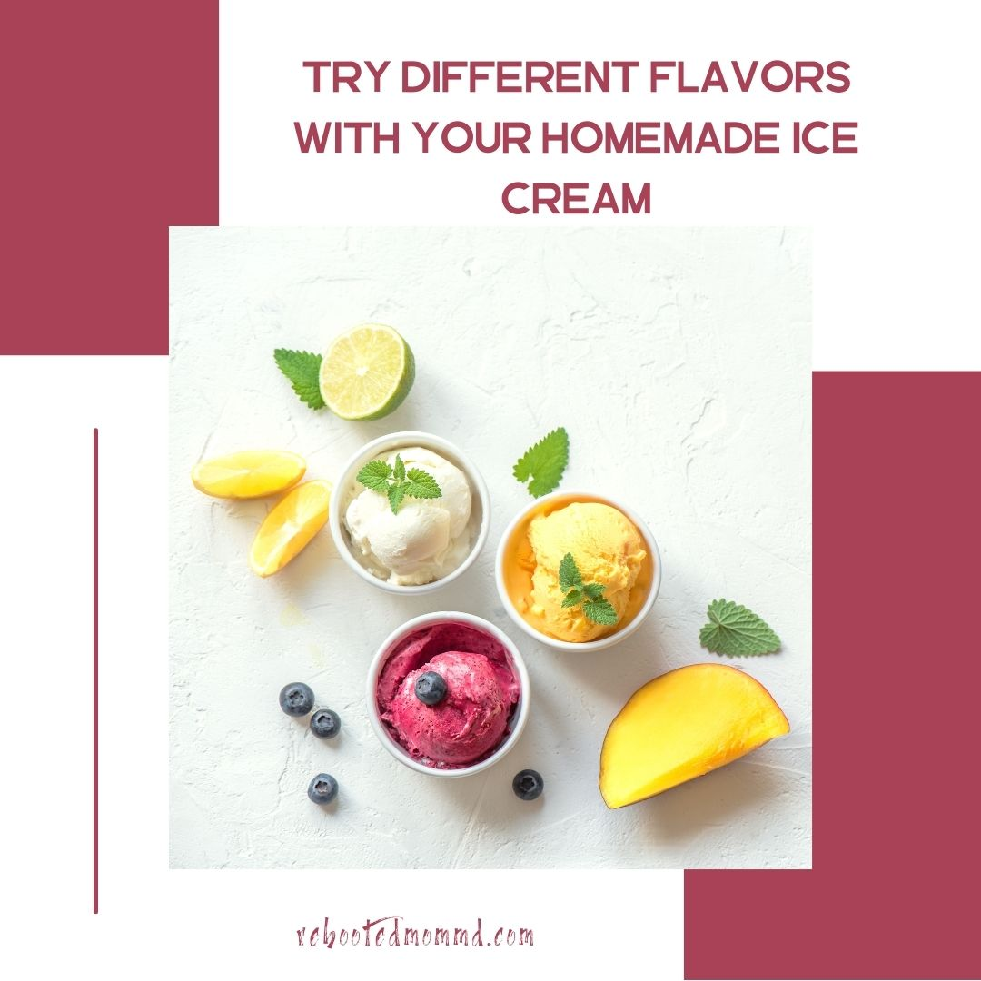 different flavors of homemade ice cream
