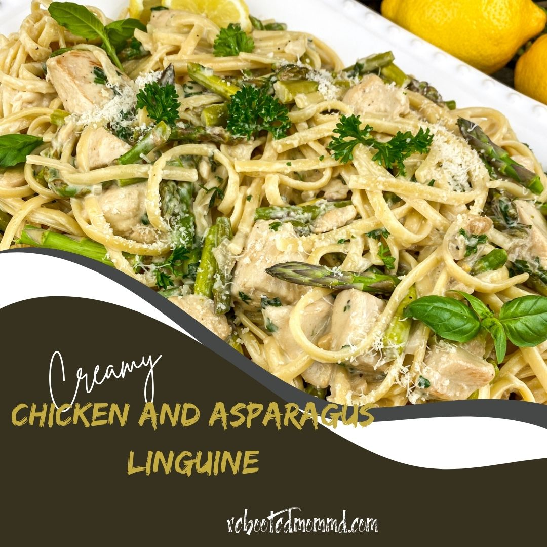 chicken and asparagus linguine