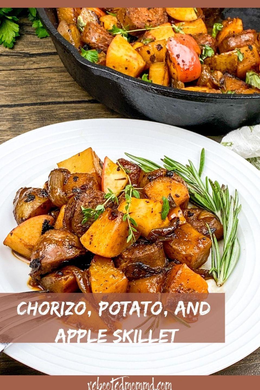 Chorizo, Potato, and Apple Skillet