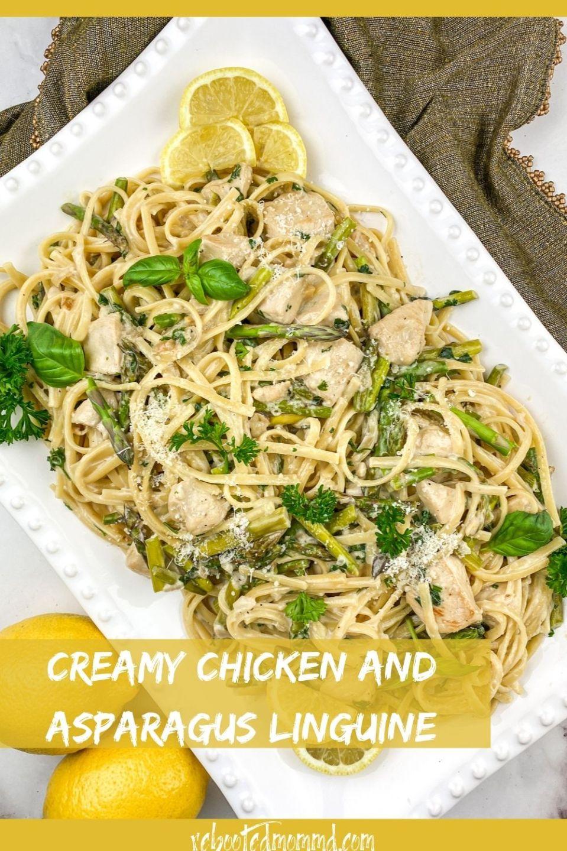 National Linguine Day: Creamy Chicken and Asparagus Linguine