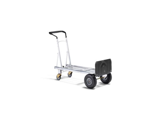 aluminum moving dolly converted to hand cart for easy loading and moving