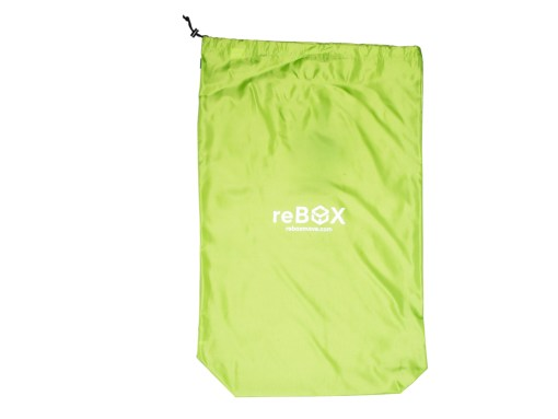 heavy weight polyester bag with drawstring lying flat