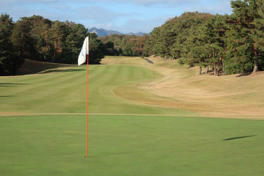 グリーンから見たゴルフコース