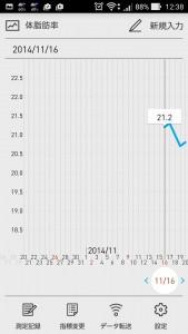 2014年11月の体脂肪率