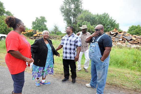 Displaced Pinhook Residents Witness Demolition of Remaining Town Structures