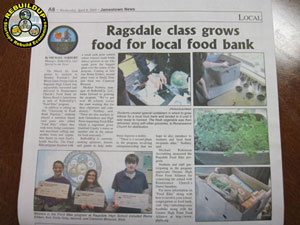 MEDIA: JAMESTOWN NEWS HIGHLIGHTS FOOD BIKE AT RAGSDALE HS