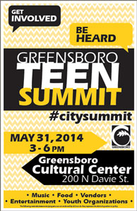 Poster Greensboro Teen Summit 2014 300
