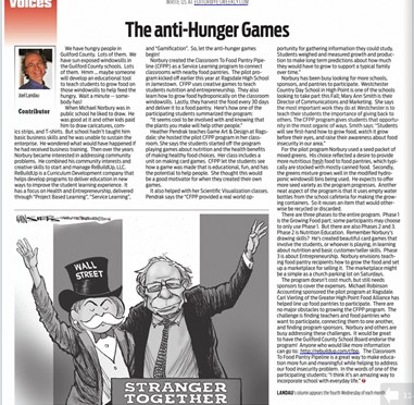 "MEDIA: YES! Weekly's ""anti-Hunger Games"" Profiles ReBuildUp's CFPP"