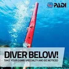 PADI DSMB Diver