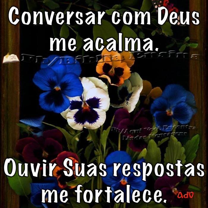 falar com Deus me acalma