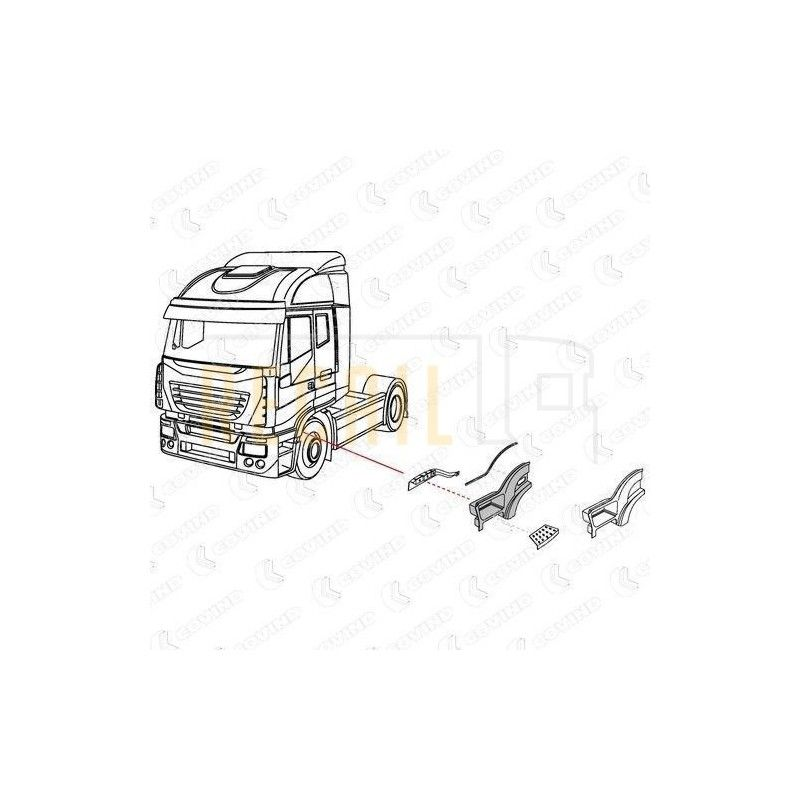 Guardabarros delantero I/D IVECO