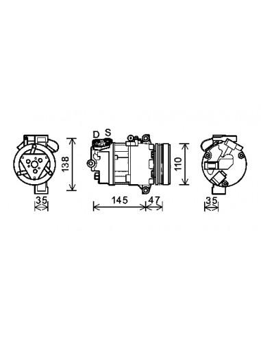 Compresor aire acondicionado BMW E46 318D / 320D // X3 2