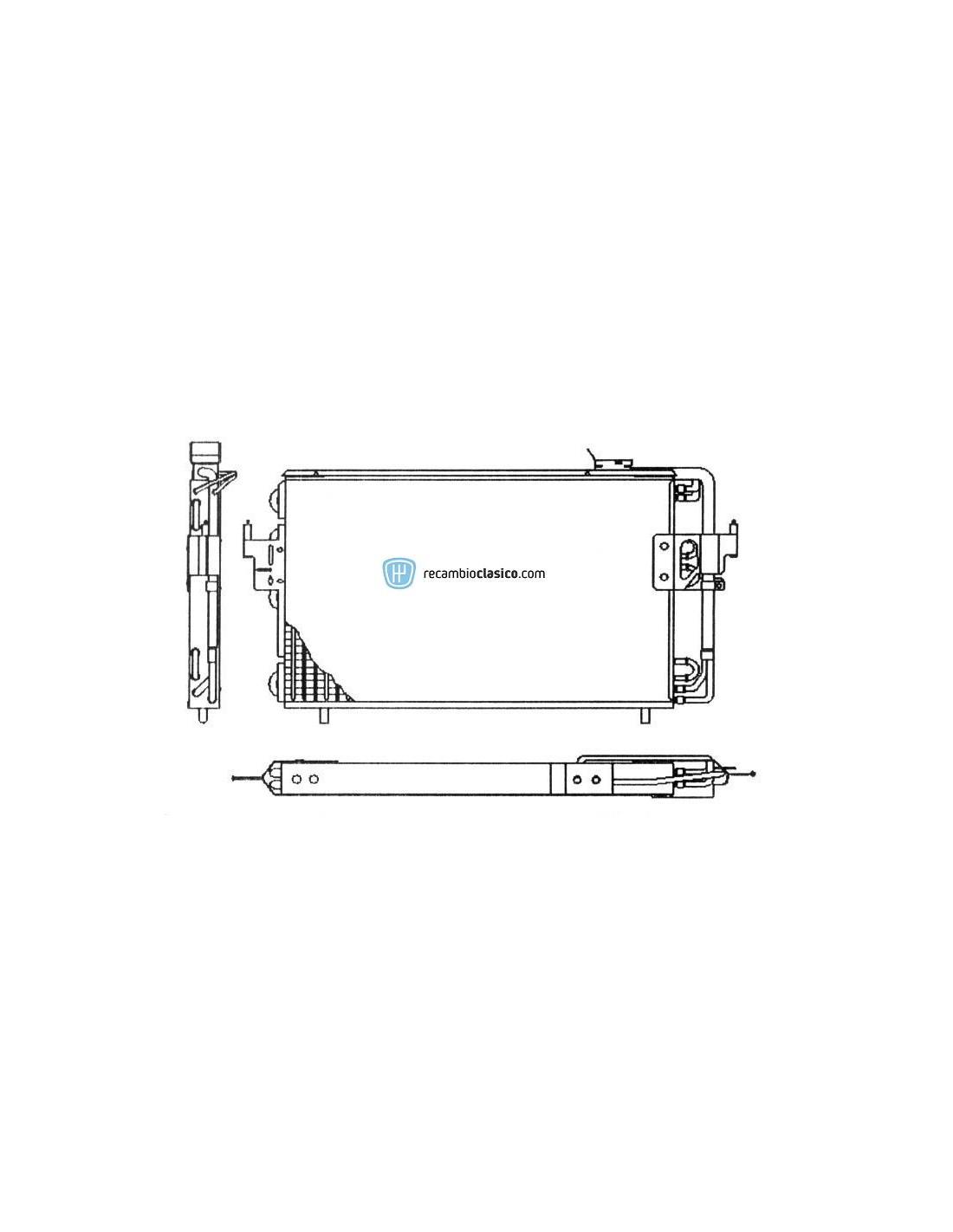 Condensador aire acondicionado CITROEN ZX 91-97