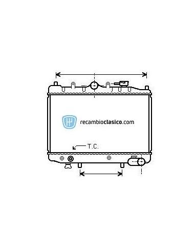 Radiador refrigeración MAZDA 323 1.1/1.3/1.5 85-89