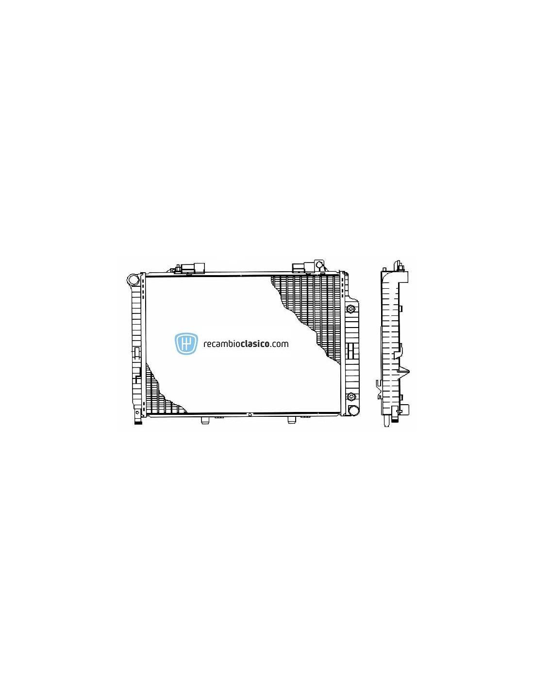 Radiador refrigeración MERCEDES W210 E290 TD 96-