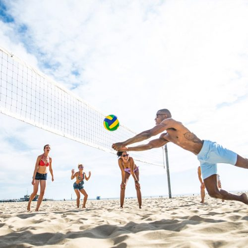 Volleyball and beach soccer