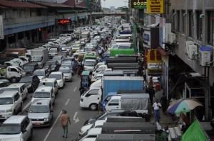 Las congestionadas calles de yangon