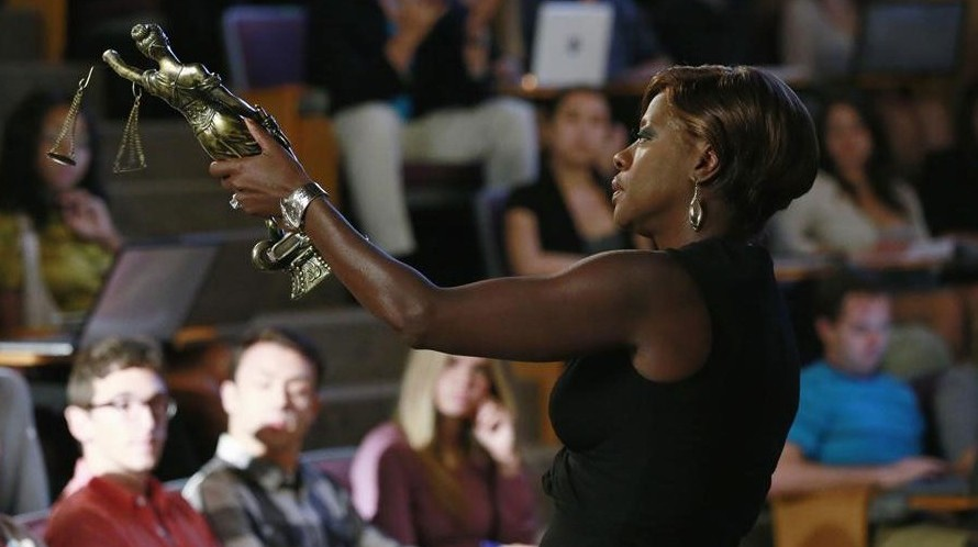 How to Get Away with Murder: Annalise Keating (Viola Davis) holds the trophy.