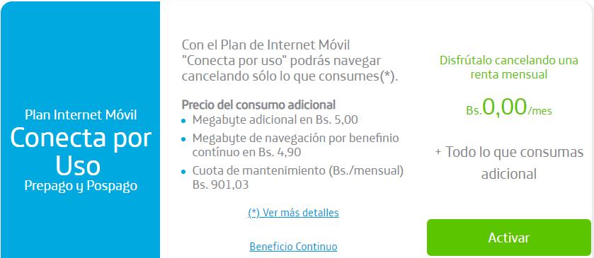 Plan internet movil