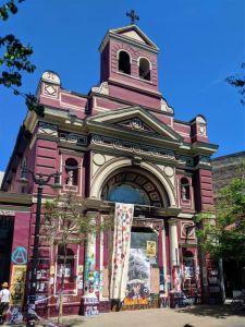 Church with Graffiti in Santiago, Chile
