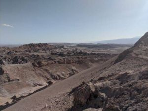 Valle De Luna in the Atacama Desert