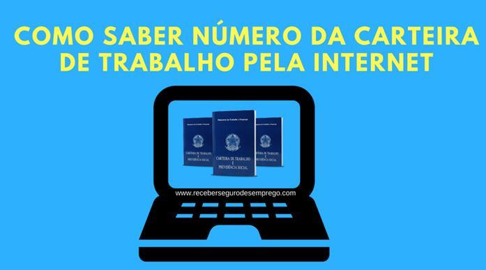 Como saber o número da carteira de trabalho pela internet