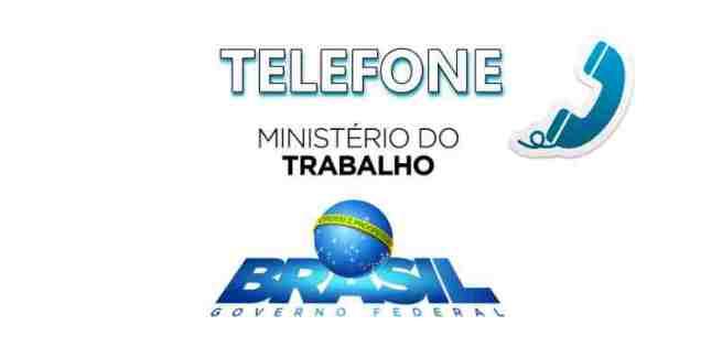 telefone do ministério do trabalho