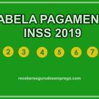Tabela de Pagamento INSS 2019