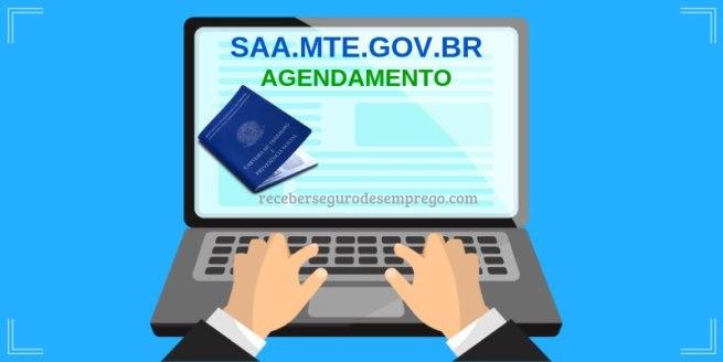 AGENDAMENTO NO SAA MTE GOV BR