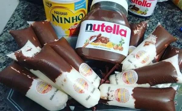 Geladinho Gourmet de Nutella