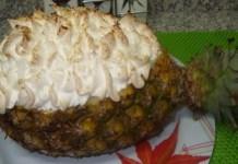 Receita de Abacaxi recheado com merengue
