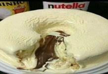 Receita de Bolo Vulcão de Leite Ninho com Nutella