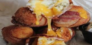 Receita de Bomba de Bacon com Purê de Batata