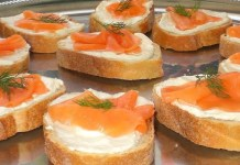 Receita de Bruschetta de salmão defumado