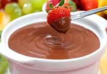 Receita de Fondue light de chocolate