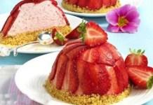 Receita de Mini Torta de Morango