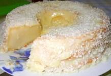 Receita de Pudim de leite de coco de liquidificador