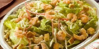 Receita de Salada leve de Camarão