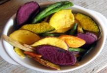 Receita de Salgadinhos Chips de Legumes