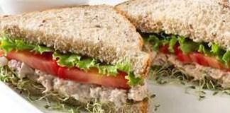Receita de Sanduíche natural de atum